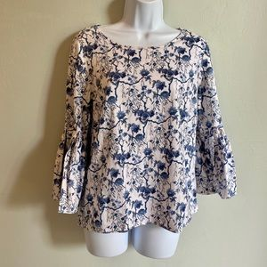 Jane and Delancey Top with Bell Sleeves